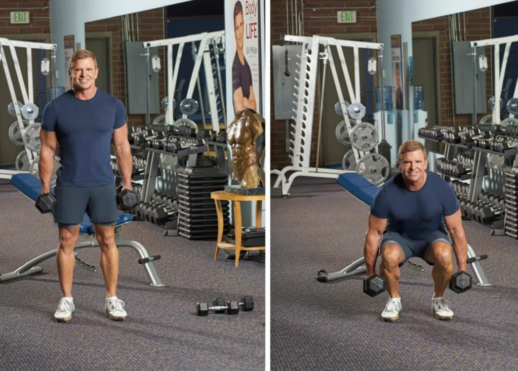 упражнения при остеохондрозе с гантелями