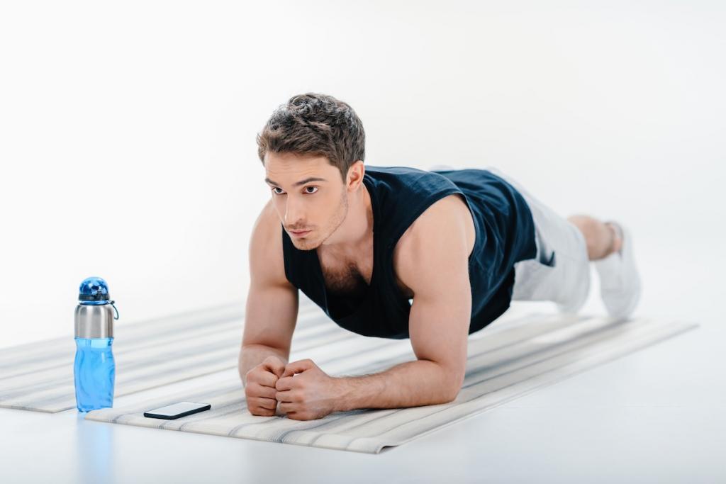 как убрать живот и бока мужчине упражнения