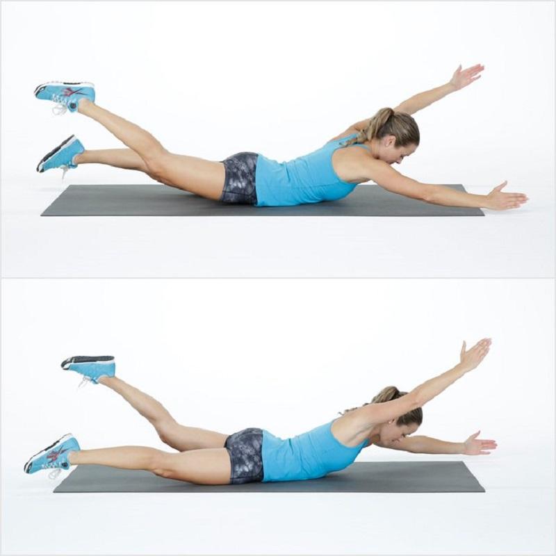 Спина Похудеть Упражнение.