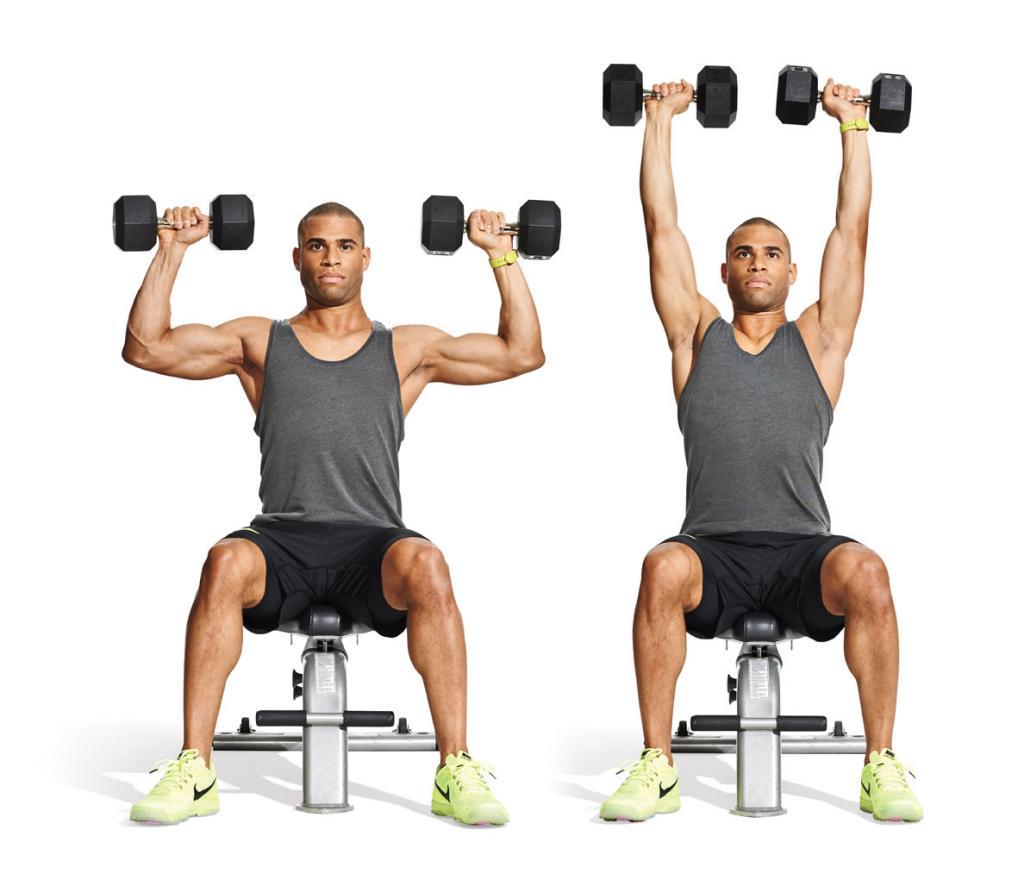 упражнения с гантелями для роста мышц